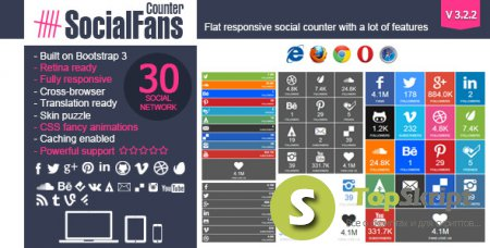 SOCIALFANS V3.2.1 для WordPress