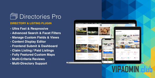 Directories Pro v1.2.37 - плагин каталога WordPress