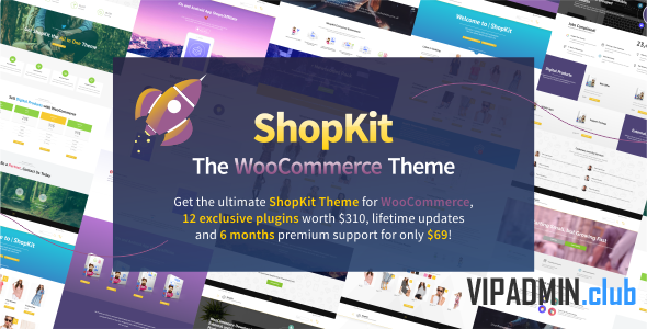 ShopKit v1.6.0 - All In One Woo тема