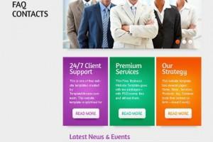 Бизнес CSS шаблон сайта